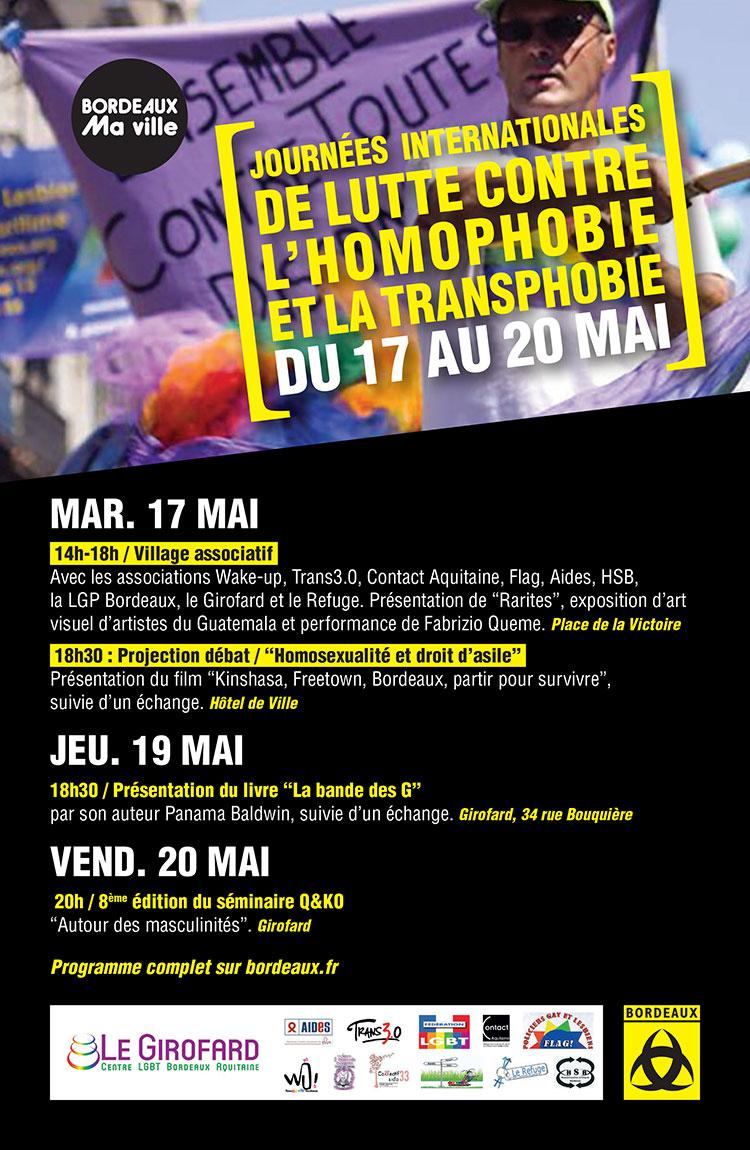 IDAHOT du 17 au 20 mai 2016