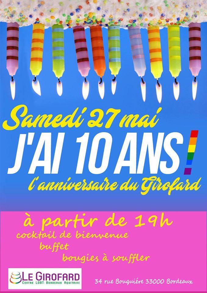10 ans du Girofard : samedi 27 mai au Girofard à partir de 19h